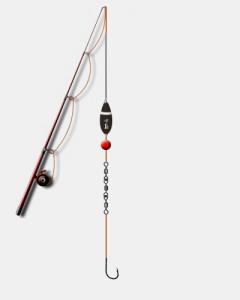 Esempio di lenza per pesca sportiva con la bombarda