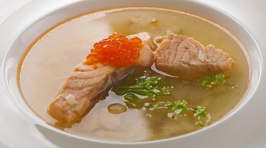 Zuppa con trota salmonata – Ricette