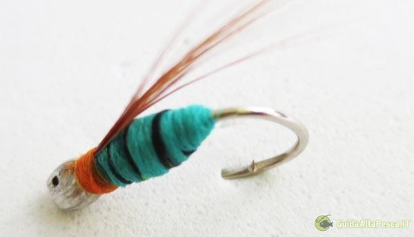 Mosca ninfa per pesca a mosca
