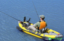Pesca dal kayak in acque interne